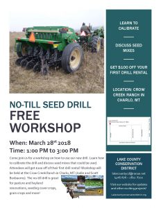 No-Till Drill Workshop @ Crow Creek Ranch