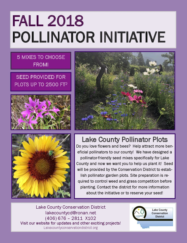 Fall 2018 Pollinator Initiative