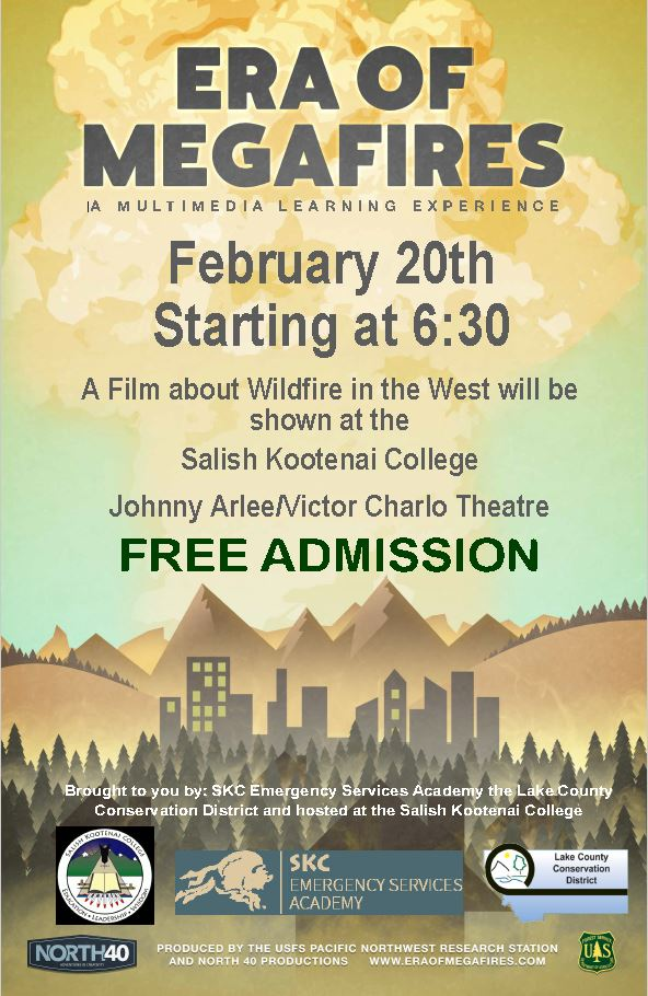 Era Of Megafires Documentary Film Viewing @ 6:30 Pm On 2/20!!